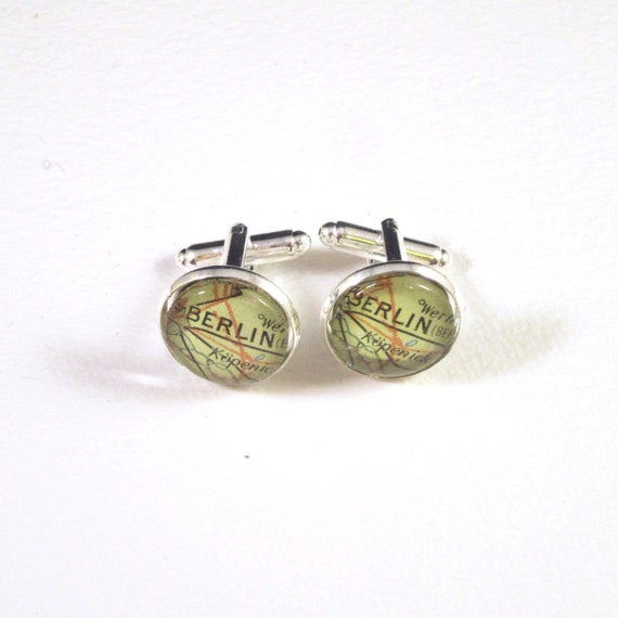 Personalized Map Cufflinks - North Europe