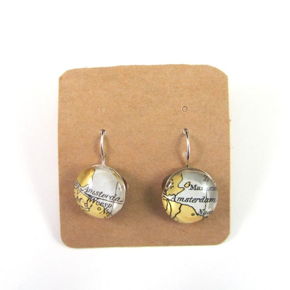 Personalized World map earrings - Netherlands variations
