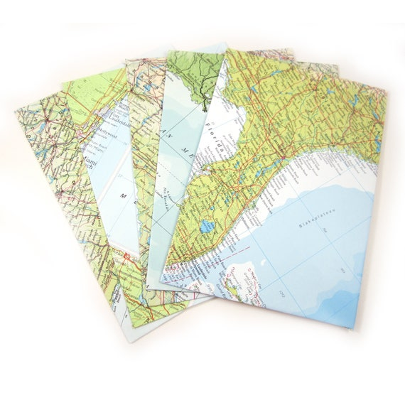 Set of 6 A7 custom sorted envelopes - America & Latin America variations