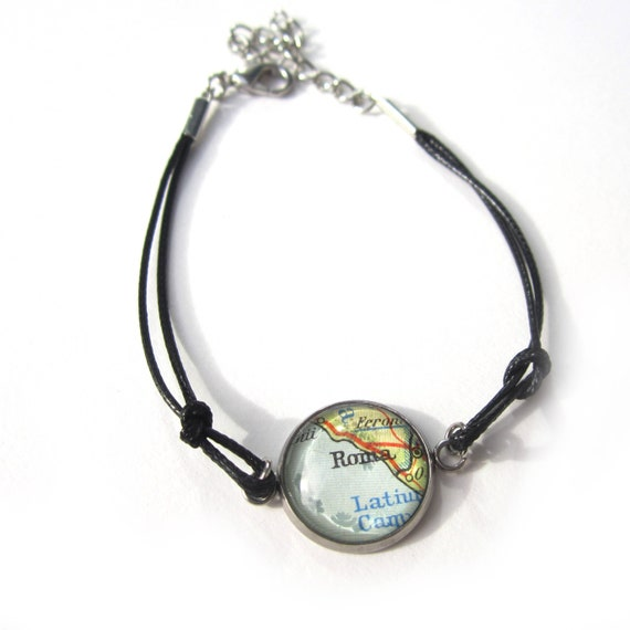Personalized World map bracelet - Europe variations