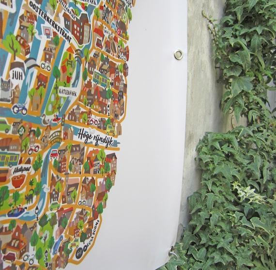 Garden PVC map - Leiden