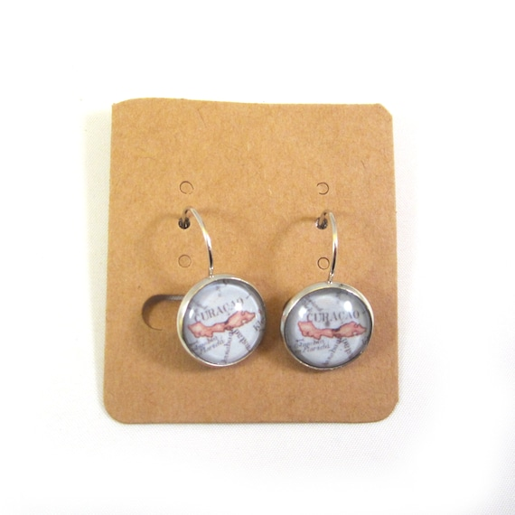 World map earrings - Central America variations