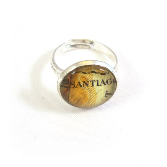Personalized Map Ring - Latin America variations