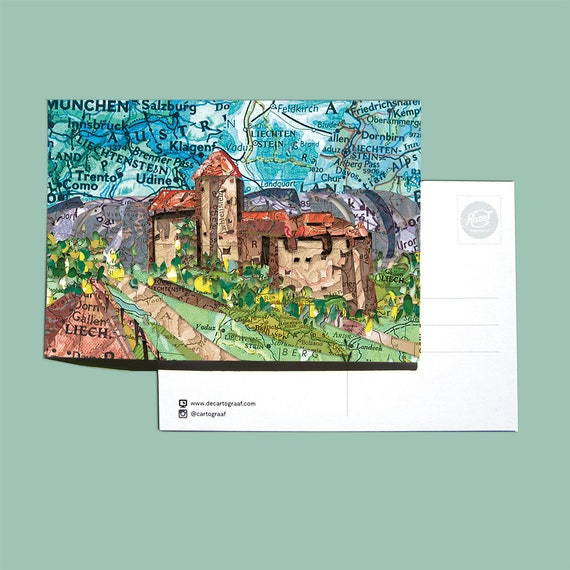 World map postcards  Europe and Eastern series