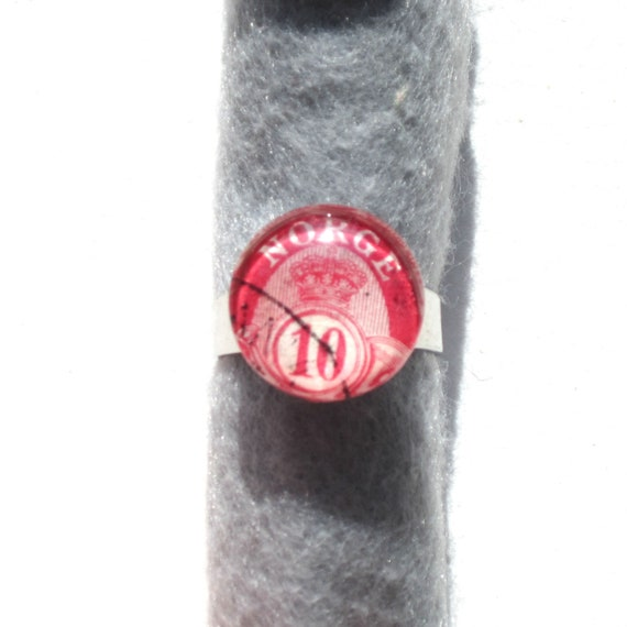 Personalized Postage stamp ring