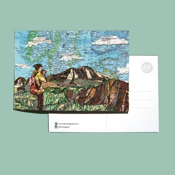 World map postcards - Scandinavia series