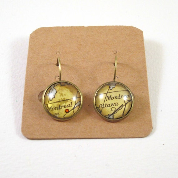 Personalized Map earrings - North America variations