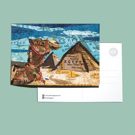 World map postcards - Arabia series