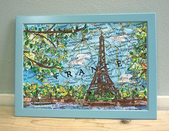 Map poster: France