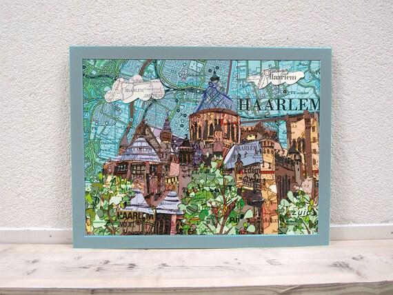 Map poster: Haarlem and Zaandam variations