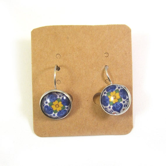 Delft blue earrings