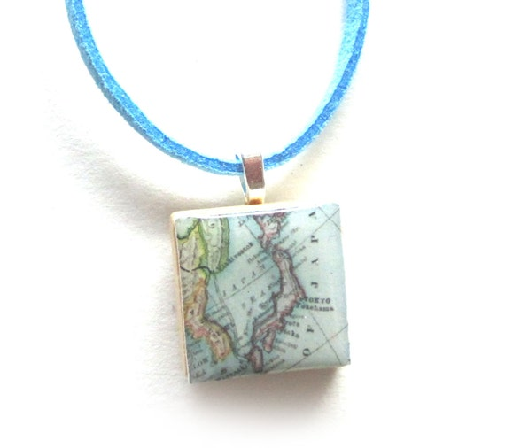 Scrabble tile necklace - Asia variations