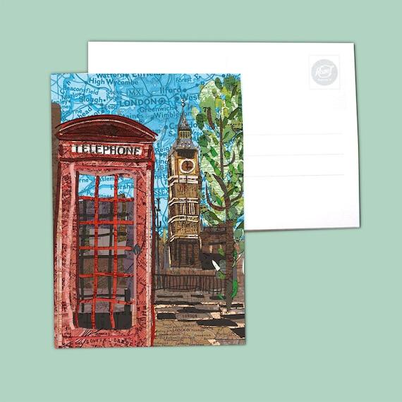 World map postcards - UK, Schotland and Ireland series