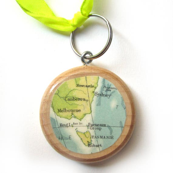 World map keychain - Oceania variations