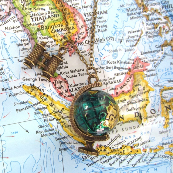 Wanderlust themed necklace