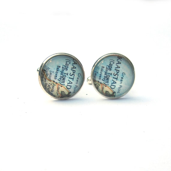 Personalized World map Cufflinks - Africa variations