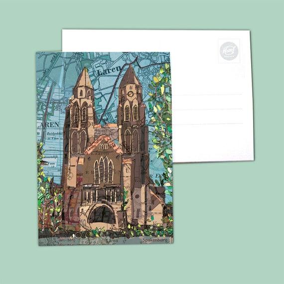 World map postcards - Gooi: Laren & Eemnes