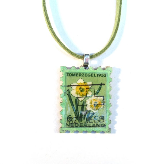 Postage stamp necklace - Netherlands