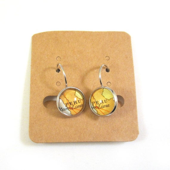 Personalized Map earrings - Latin America variations