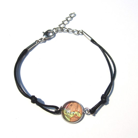 Personalized world map bracelet - Africa variations
