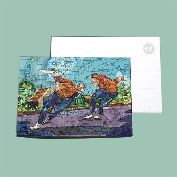 World map postcards - Sports
