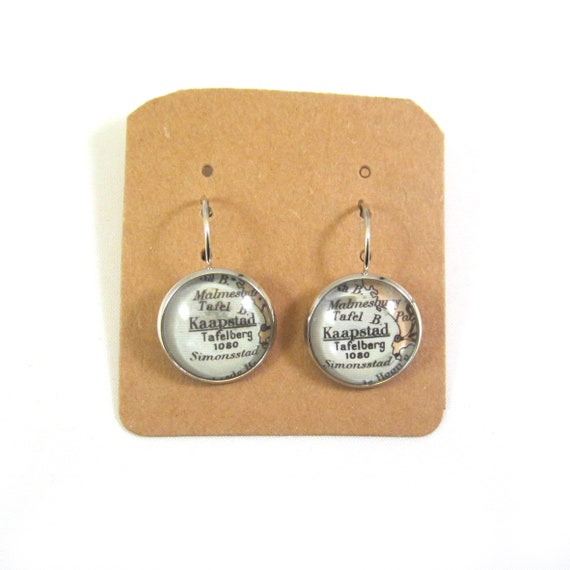 Personalized World map earring - Africa variations