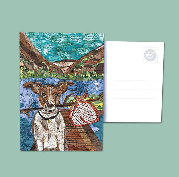 World map postcards - Cats and dogs