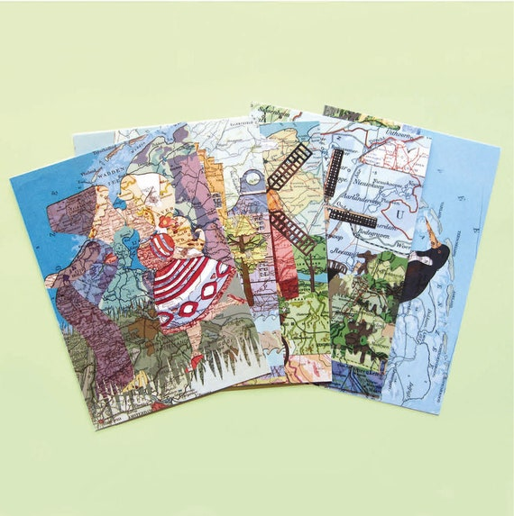 World map postcards - The Netherlands