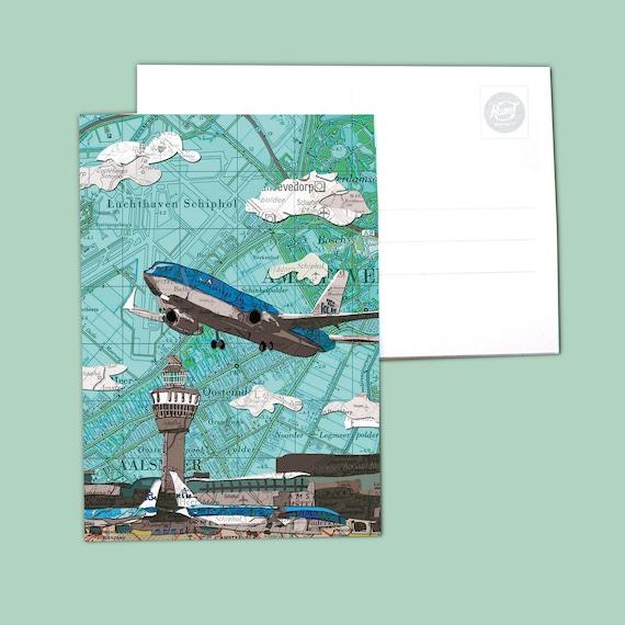 World map postcards - Noord Holland variations