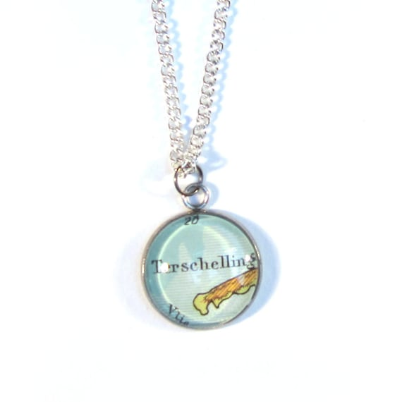 Map necklaces - Wadden variations 20 mm