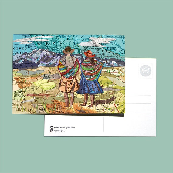 World map postcards - Latin America