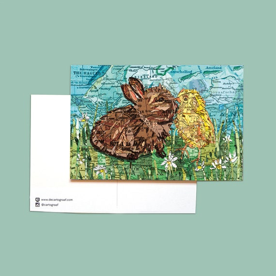 World map postcards - Ester series