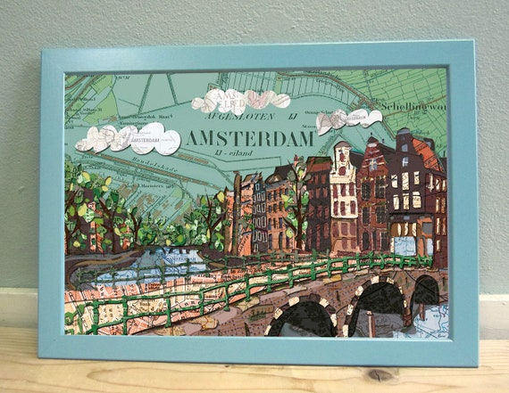 Map poster: Amsterdam variations