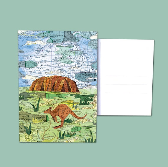 World map postcards - Australia / oceania
