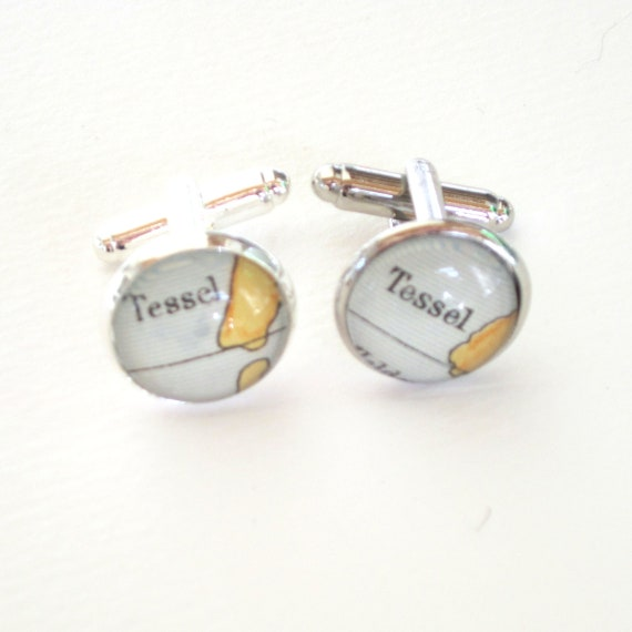 Personalized Map cufflinks - The Netherlands