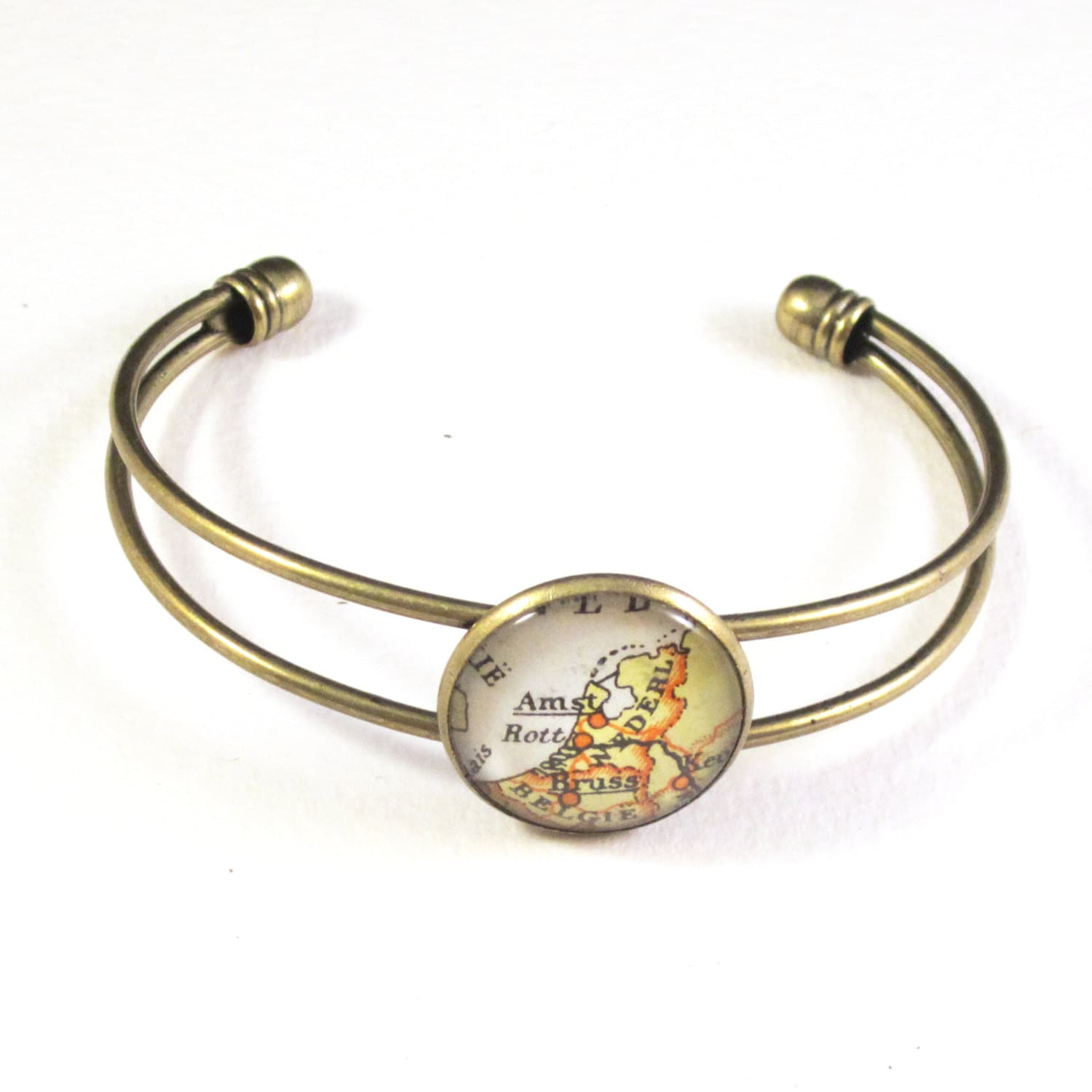 Personalized World Map Bracelet