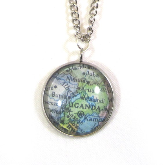 Map necklaces - Africa variatons 20 mm