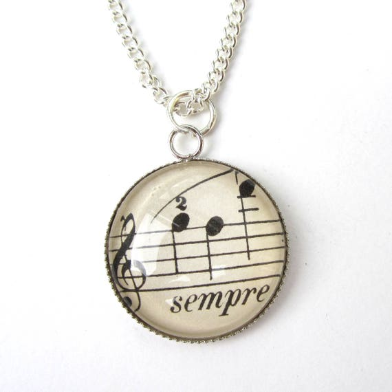 Personalized Necklace - Music variations 25 mm