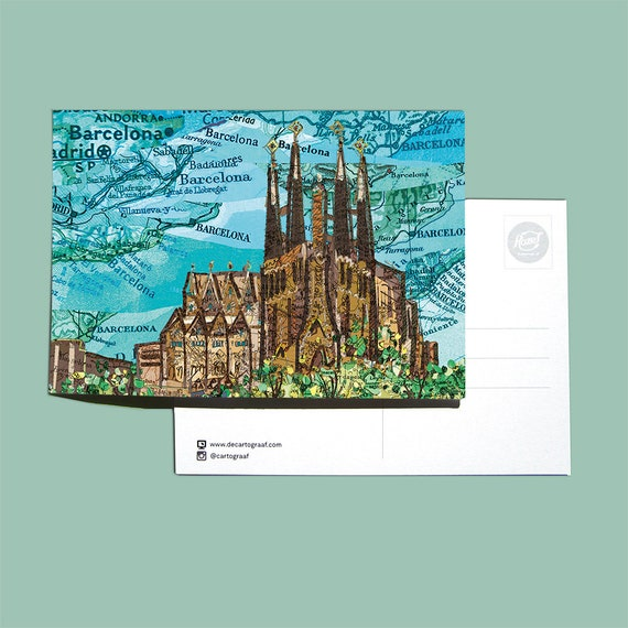 World map postcards - Spain and Portugal series 1
