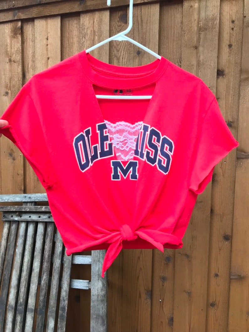 Old Miss Lace Insert Crop Top