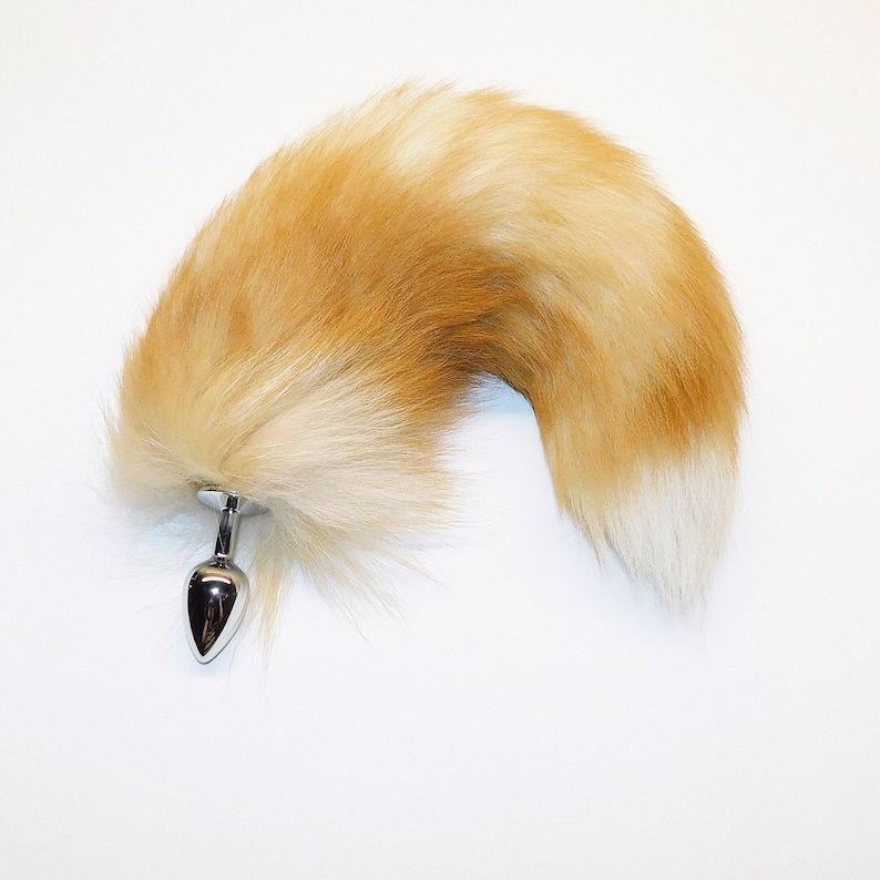 e1ec94627 17-18 AMAZING crystal fox tail dyed rust brown butt
