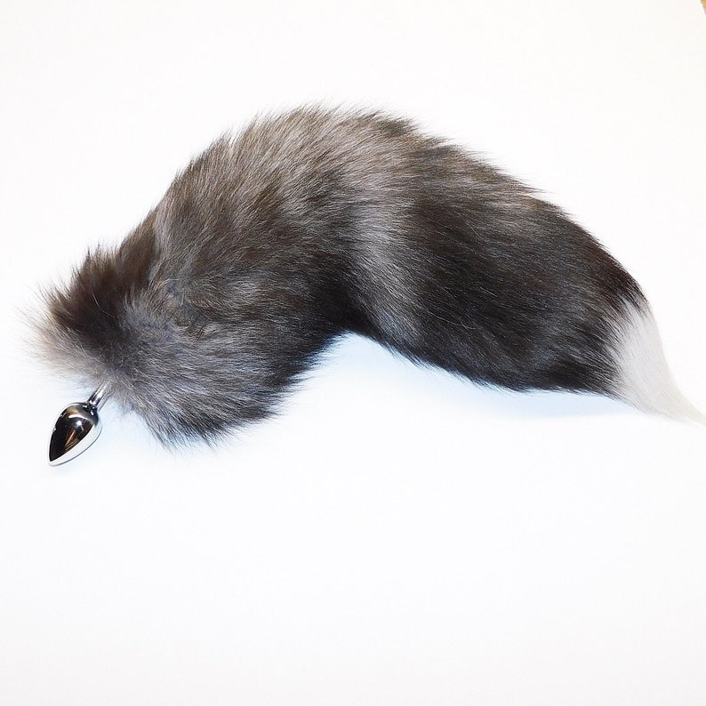 5251caab3 17-18 WOW Amazing NATURAL indigo fox tail butt plug your