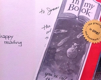 OUT of THIS WORLD greeting card bookmark