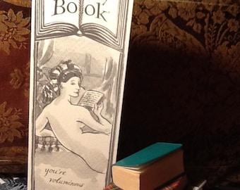 VOLUMINOUS greeting card bookmark