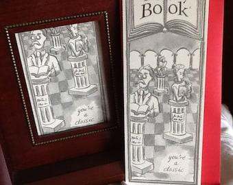 CLASSIC greeting card bookmark