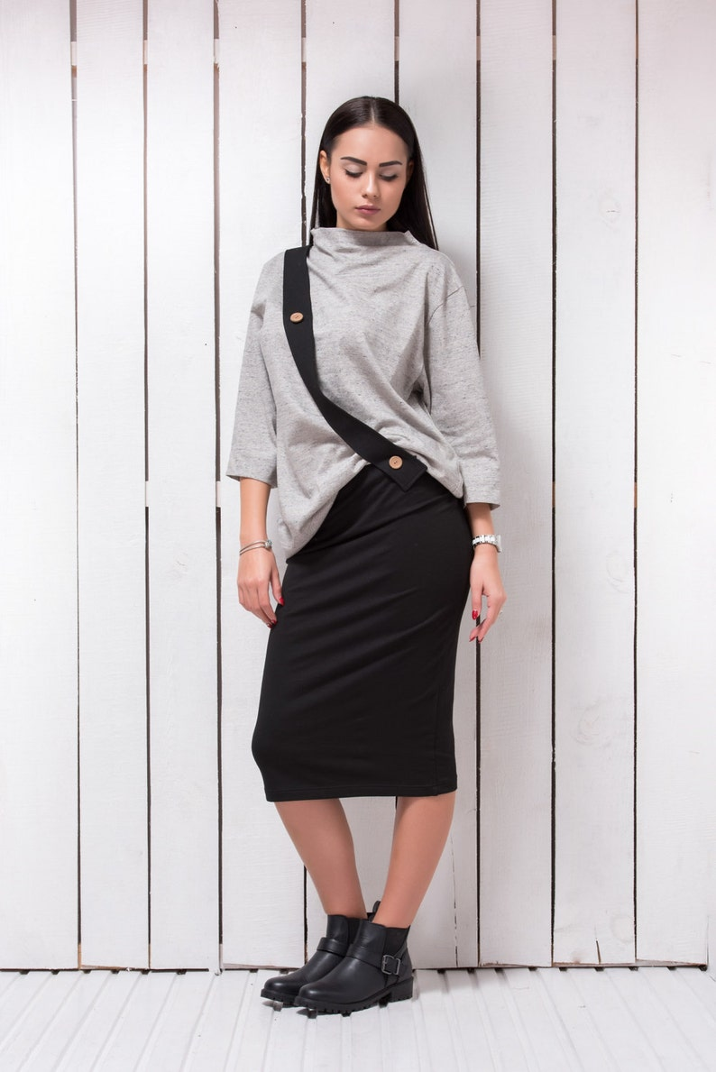 Oversized Sweater Dress, Plus Size Clothing, Long Sleeve Top, Party Dress,  Suit Midi Skirt, Winter Top, Business Dress, Office Dess
