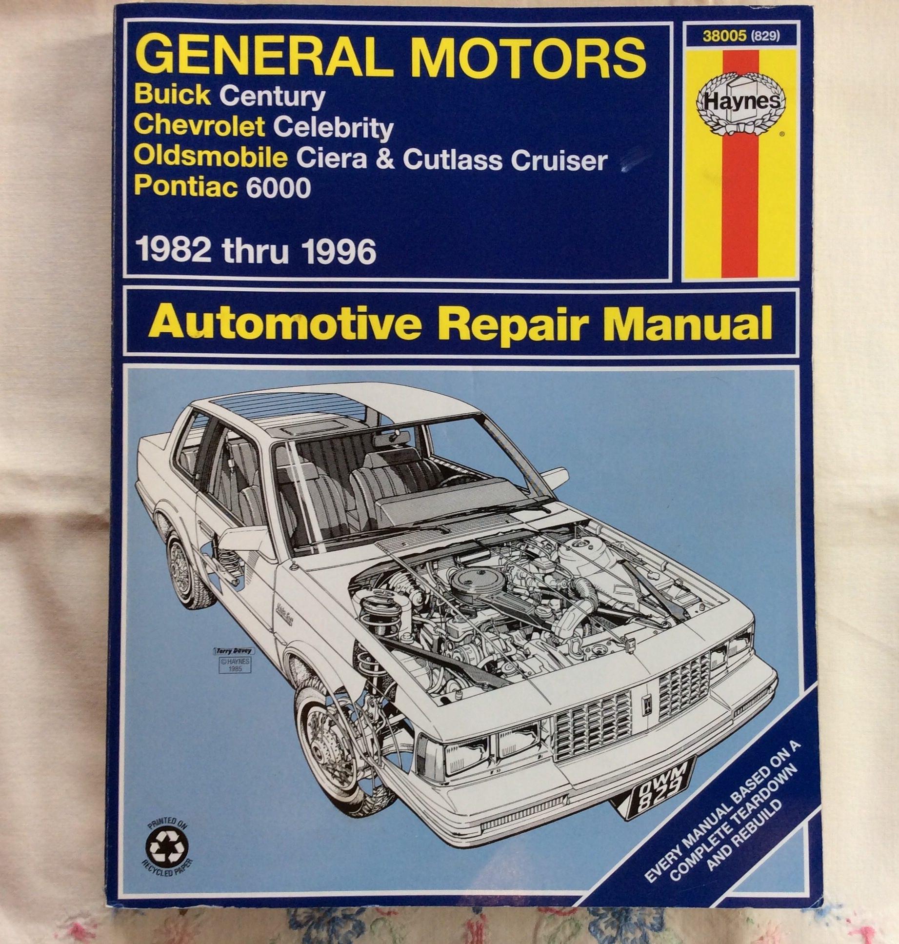General Motors Repair Manual 1982 1996 Etsy 1990 Pontiac 6000 Wiring Diagram Zoom