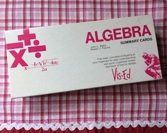 Algebra Summary Cards