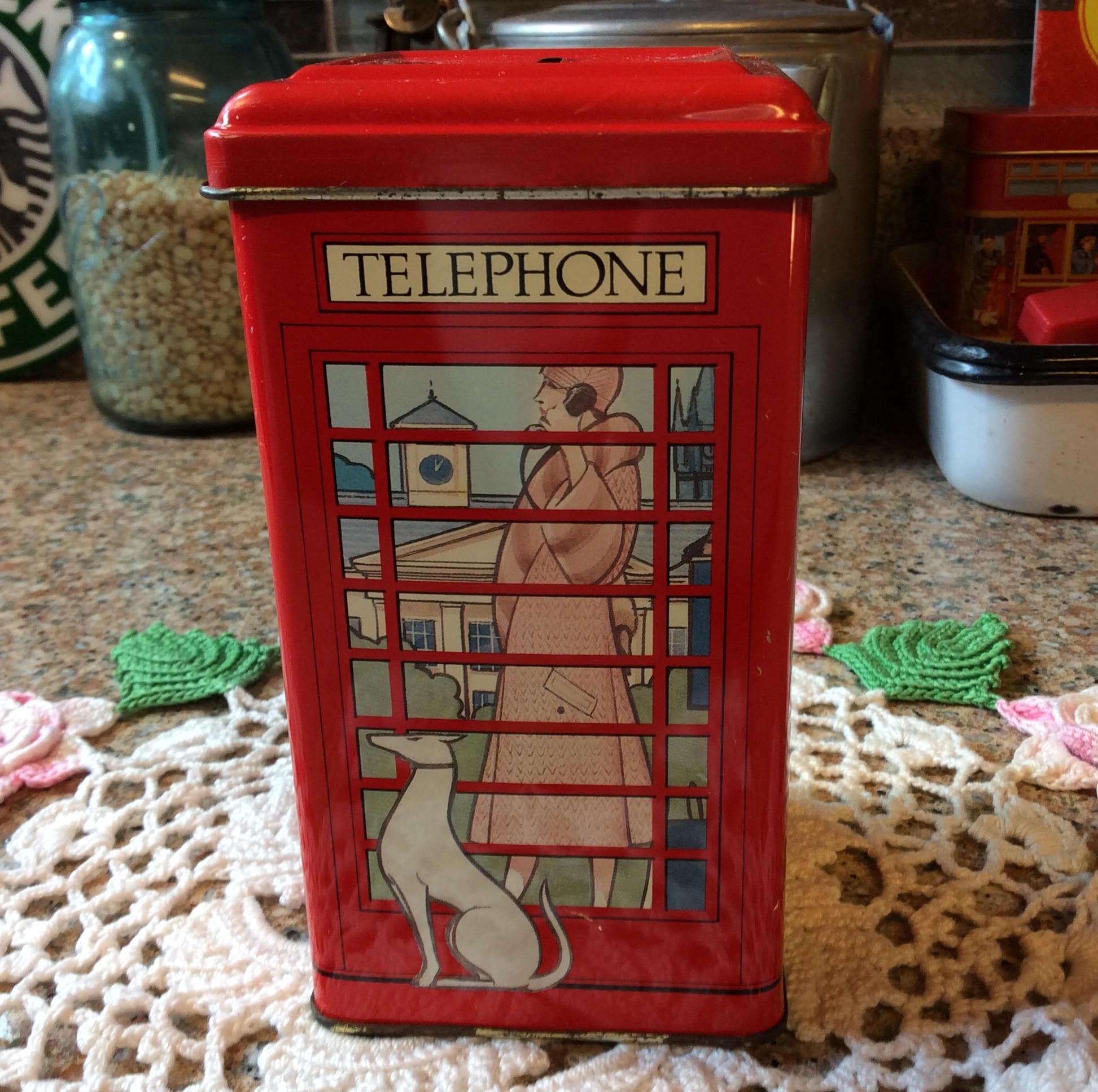 Wilson angielski Tea telepone Tin Bank
