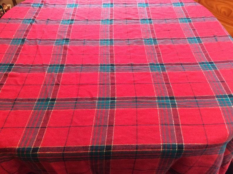 Plaid tablecloth  rectangle  Christmas